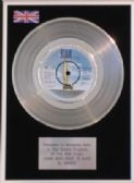 "SMOKIE - 7"" Platinum Disc -LIVING NEXT DOOR TO ALICE"